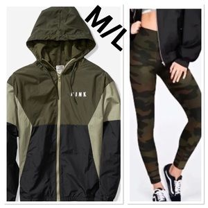 NWT VS PINK LARGE COLORBLOCK CAMO SET
